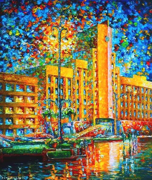 Картина маслом на холсте Минск