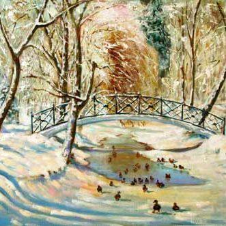 Минск, зима в парке Горького