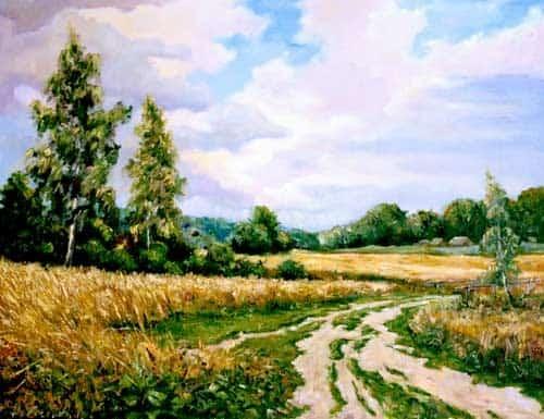 Дорога к дому — летний пейзаж Image