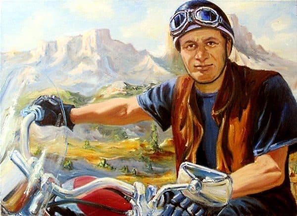 Портрет мотоциклиста
