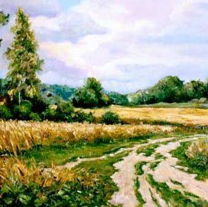 Дорога к дому – летний пейзаж