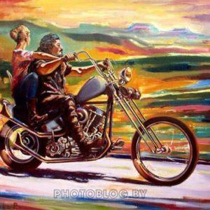 Картина с Мотоциклом Краски Мексики