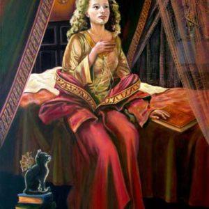 Дама средневековье живопись