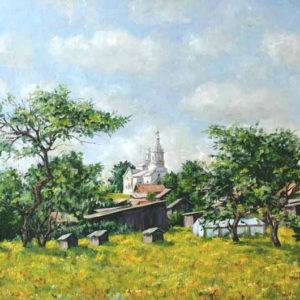 """Сельский пейзаж """"Летом в деревне"""""""