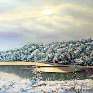 Зимний пейзаж возле Минска