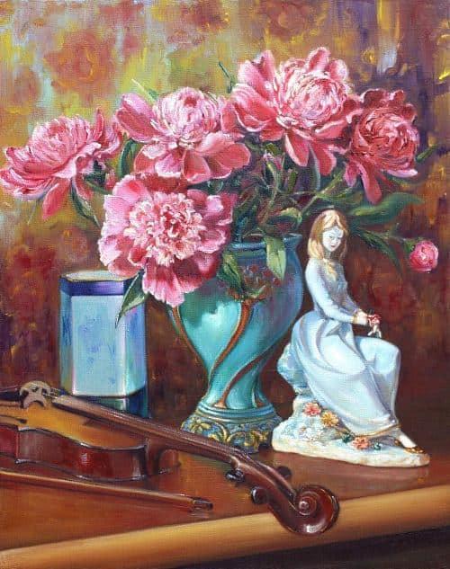 Девочка с цветами Image