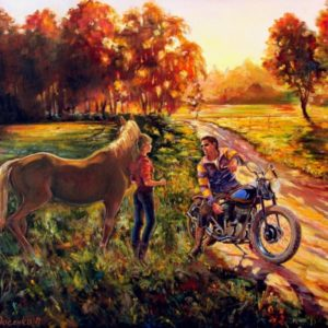 painting motorcycle art