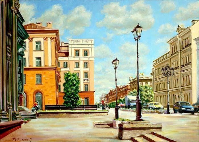 Художественный музей и улица Ленина Image