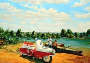 Мотороллер Чезета – легенда  ретро-мототехники
