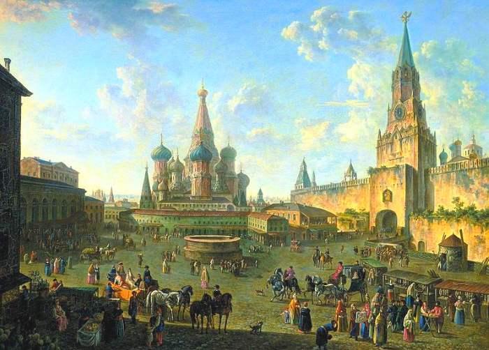 Городской пейзаж с видом Москвы