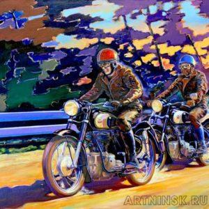 Ретро мотоцикл Симсон AWO 425