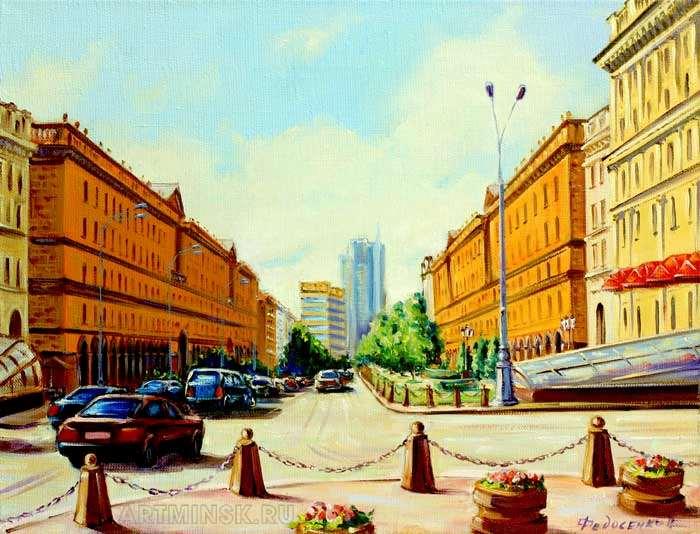 Вид на улицу Ленина в Минске Image