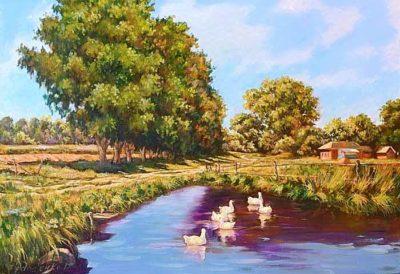 Белорусское полесье пейзаж
