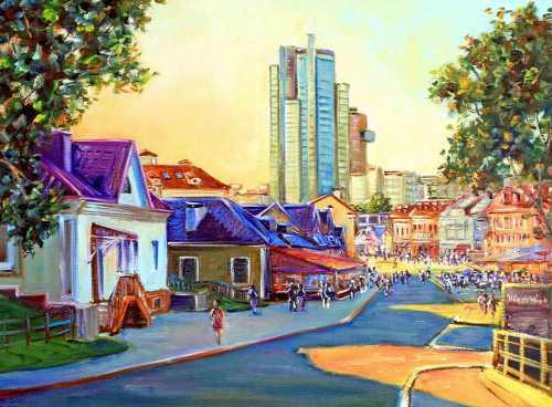 Минск, улица Зыбицкая, городской пейзаж