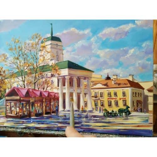 Достопримечательности Минска в живописи