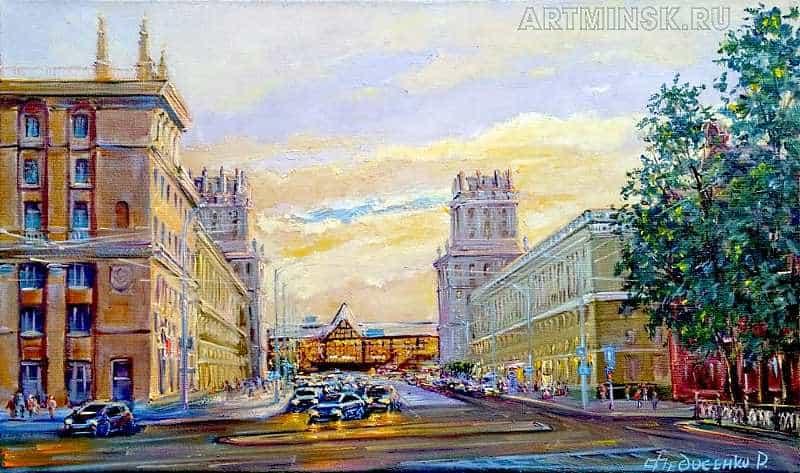 Картина пейзаж Минск