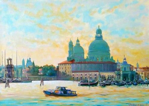 Пейзаж утро Венеции