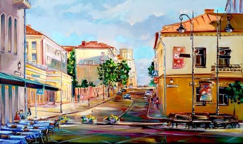 Картина маслом на холсте, улица Комсомольская