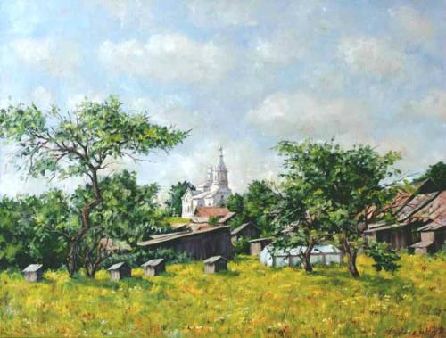 Летом в деревне. Холст, масло 50/65 см. 500BYN