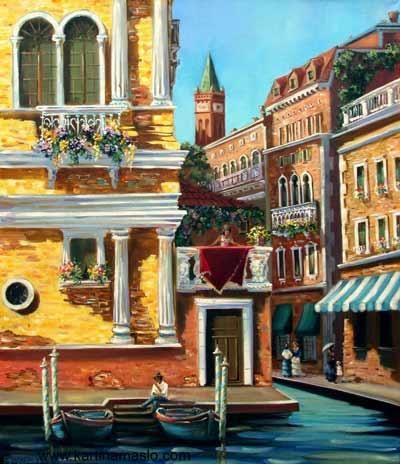Венеция, солнечный день. Холст, масло 60/70 см. 400BYN